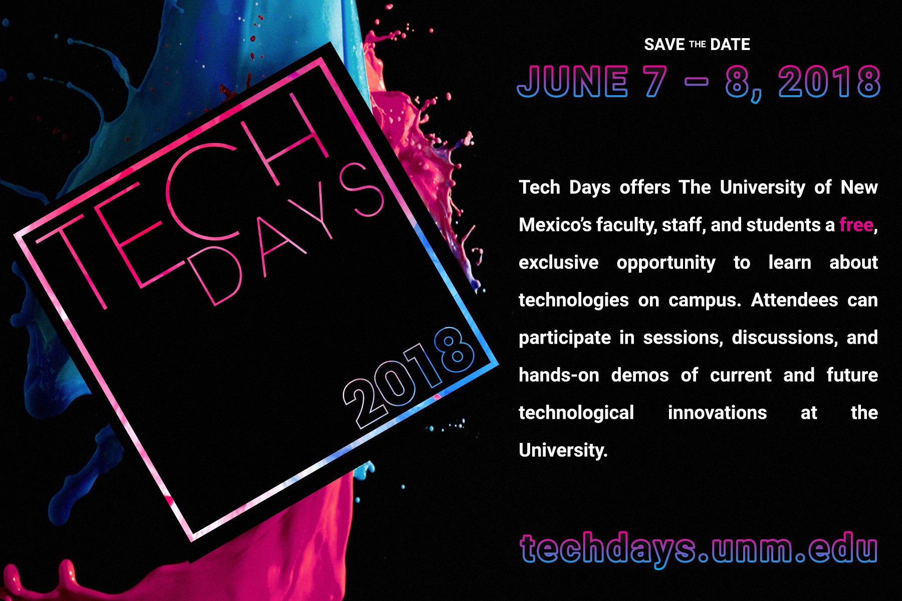 Tech Days 2018 - Save the Date